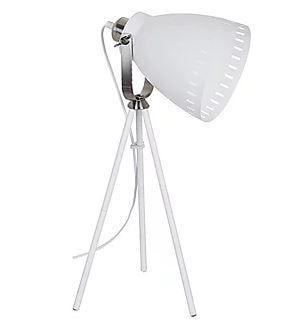 Luminaria De Mesa Bergen Metal Branco 1xE27 40W 31x20x52cm Qualiy LM864-BR