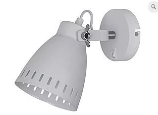 Arandela Metal Bergen 22,5x12x17cm 1xE27 40W Cor Branco Casual Light QAR1153-BR