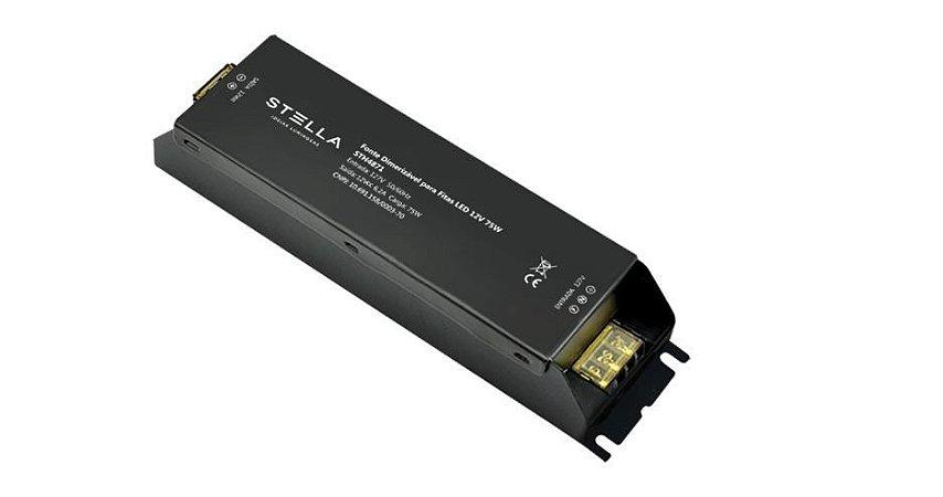 Fonte Dimerizável para LED 12V 75W Entrada 127V ou 220V Saída 12Vcc Stella STH4871