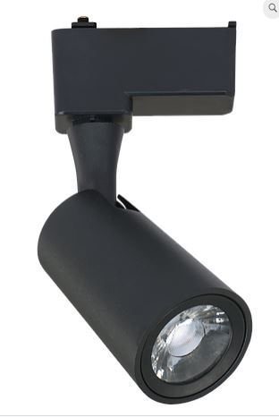 Spot Mark Alumínio 17.5x7.5x5.5cm  LED 1x12W 3000K  Cor Preto Casual Light QSP1372PT