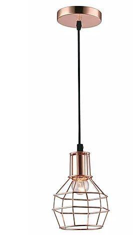 Pendente Nice Metal 15x20cm 1xE27 40W Cor Cobre Casual Light QPD919-CO