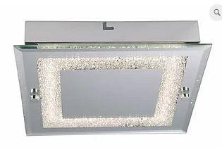 Plafon Valência Metal LED 12W  720lm 4000K  25x25x5,6 cm Espelhado Quality QPL911