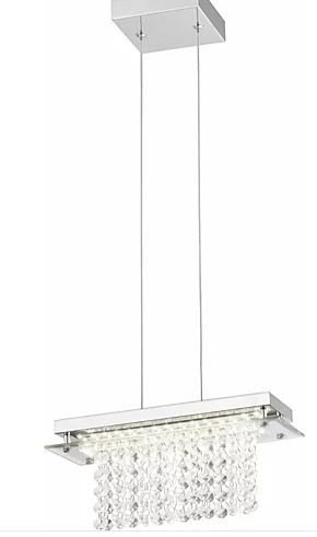Pendente Versalhes Metal 30x12x12cm LED 12W 4000K Cor Cromado Casual Light QPD887