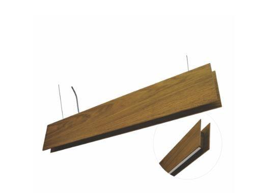 Pendente Slim Linear Madeira e Acrílico 70x11x4cm Accord 1311