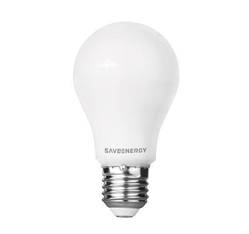 Lâmpada Bulbo A60 9W 810LM 3000K E27 85-240V Click Saveenergy  SE-215.1454