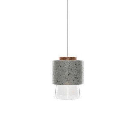 Pendente Hout Cone Concreto Polimérico  Led G9  127v/220v 13x19x13cm Klaxon 3170029