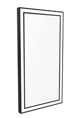 Luminária Espelho Mirror Edge Detalhe Preto 1xLED 50,4W Bivolt 127V / 220V  80x42x4cm  Newline ES0431LED3PT