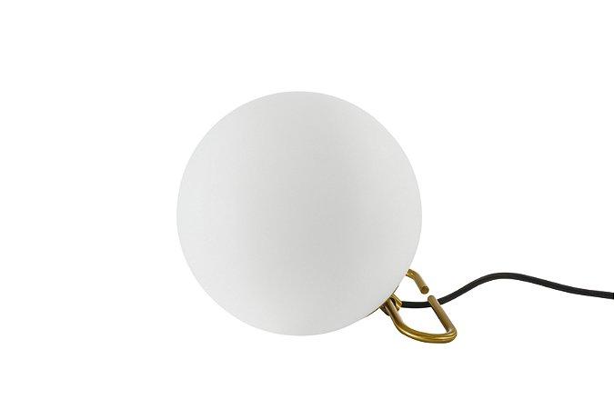 Luminária de Mesa Berlock Metal e Vidro 1XE-27 D-20cm Mais Luz LM-114/1.20BROPT