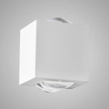 Arandela 2 Fachos Alumínio e Vidro Transparente 15x15x10cm 1xG9 LED Integrado Itamonte Nac 258/2
