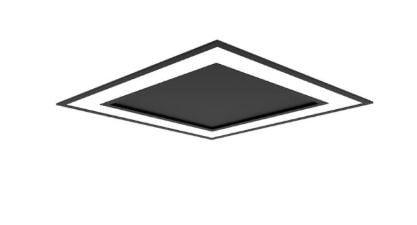 Embutido Fit Edge Preto 16,8w 3000K 127/220V 23x23x5cm Newline EM0121LED3PTPT