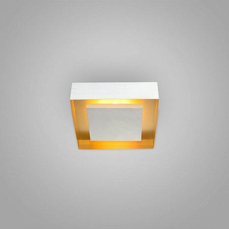 Luminária Sobrepor Quadrada Alumínio 26x26x7,5cm 4xG9 LED Capsula 40W Itamonte Nac 3045/26