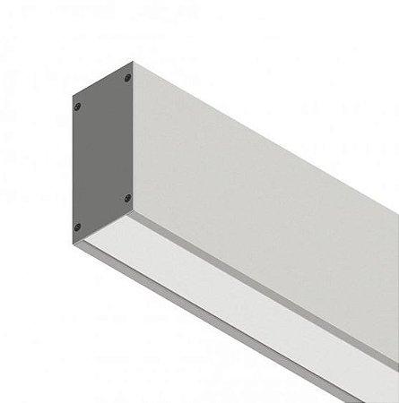 Perfil Sobrepor com Facho Simples Linear W96 14,4W 12 VDC 1350Lm IP20 2MT Misterled SLED9006 200