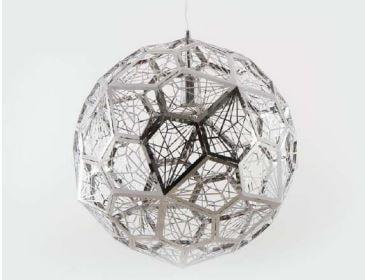 Pendente Bola em Alumínio Cromado Bivolt  Código 1197 1xE27 50cm Adn+ 5033