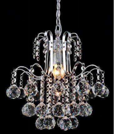 Pendente Berry Cromado Metal + Cristal Transparente Cód:1364 Bivolt 01 Lâmp E27  27x30cm Adn+ 58011P