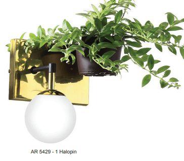 Arandela com Suporte para Planta 22x10x21cm 1 Lâmpada E27 Old Artisan AR-5429/B