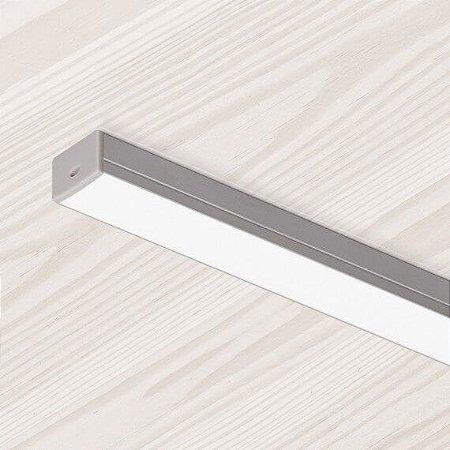 Perfil Sobrepor Retangular Sistema de Iluminação Linear 9,6w 3000K  850 Lumens 1,77MT Misterled SLED9005177
