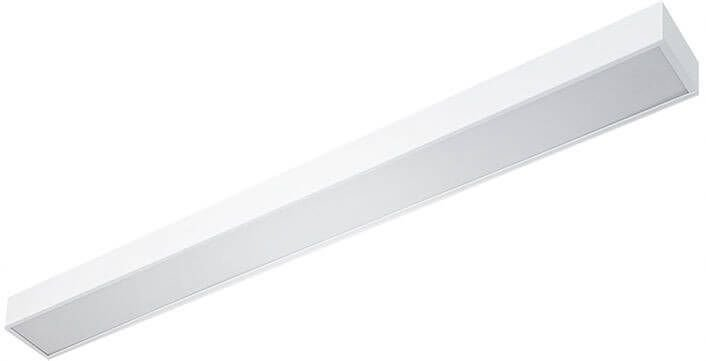 Luminária de Sobrepor em Alumínio Difusor em Acrílico 63x10x5cm 2xT8 60cm Cor Branco Impacto TBS-12
