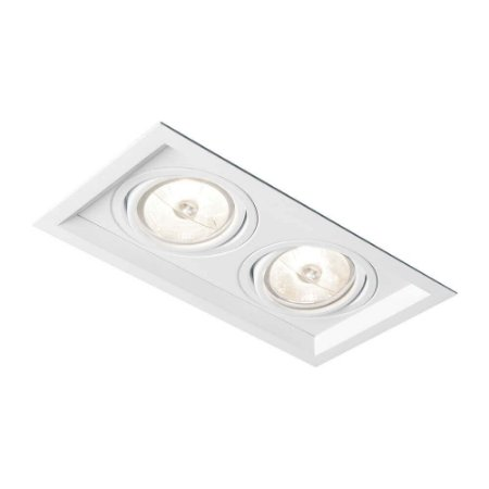 Embutido Recuado II AR70 LED GU10 GZ10 Bivolt 138X241X80mm Branco Total  Newline IN51342BT