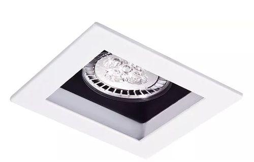 Embutido Orientável Recuado Quadrado em Alumínio Injetado PAR20 1xE27 11x11cm Impacto 1052