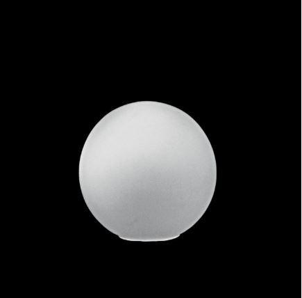 Globo 10 sem Colar Branco Brilhante ø10x10cm B4 Luvidarte 100BR/BRI