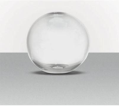 Globo 30 sem Colar Transparente ø30x30cm  Boca 15 Luvidarte 5730SCTR