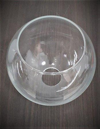 Globo 15cm sem Colar Ø15x15cm Transparente Luvidarte  5715TR