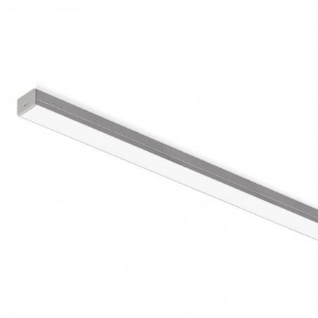 Perfil Sobrepor Retangular Sistema de Iluminação Linear 9,6w 3000K 1MT Branco Misterled SLED 9005 3K