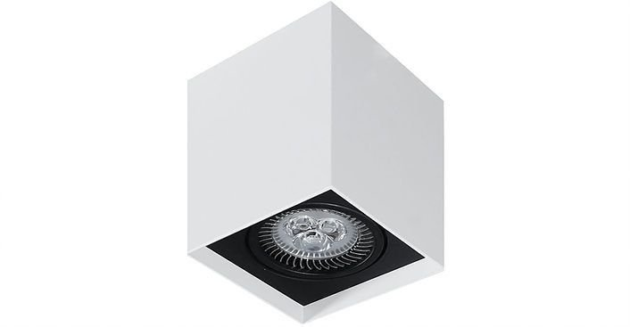 Plafon Sobrepor Retangular PAR20 13x7,5x7,5cm Metal Impacto M11