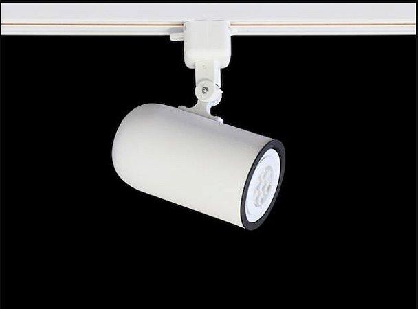 Spot Giga com Plug Altrac para Trilho Eletrificado PAR20 E27 Branco Fosco Altena ALT09020 BF