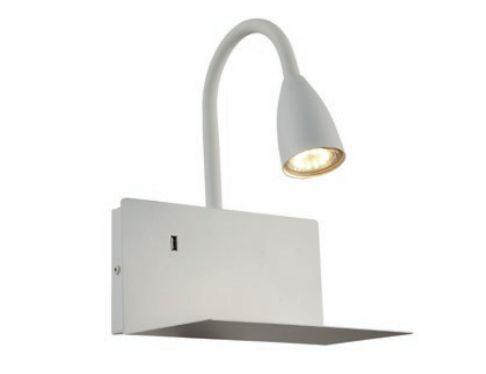 Arandela Haus com Entrada USB Metal 23x20x29cm 1xGU10 LED 20W 127V/220V Cor Branca Casual Light AR1445BR
