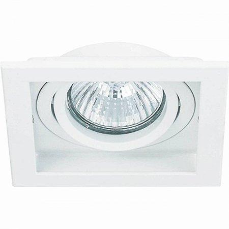 Spot Conecta Quadrado Recuado Aluminio10,2x10,2x4cm 1xMR16  Bella Iluminação NS7001B