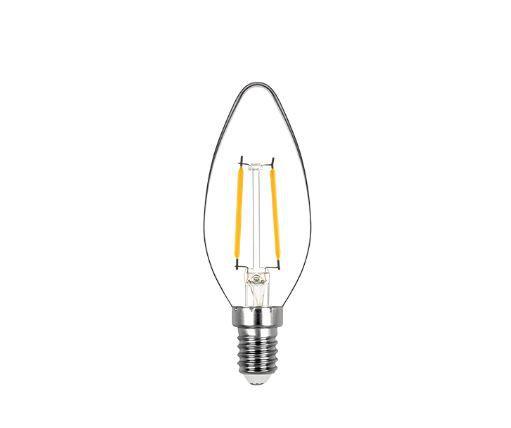Lâmpada Vela Lisa Filamento 2,5W 220V 200lm 2700K E14 320° Stella STH20302/27