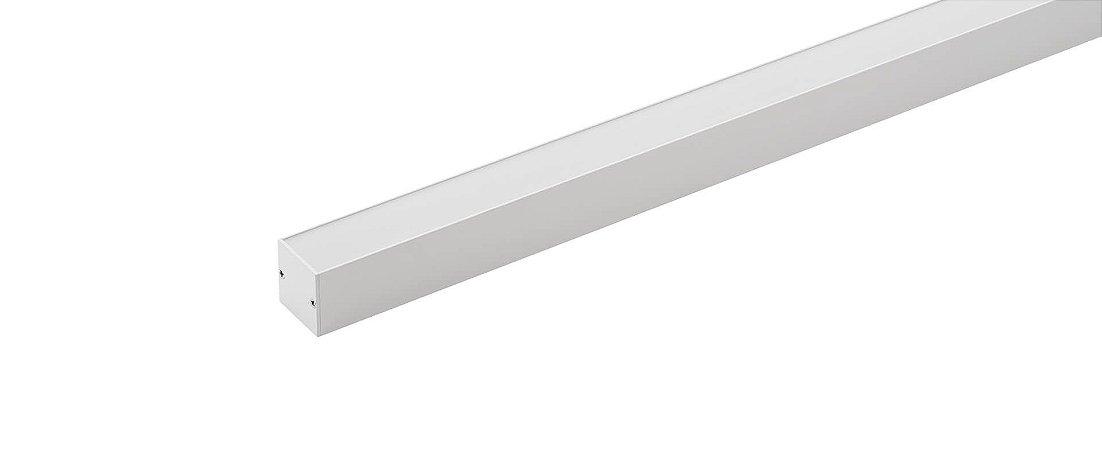 Perfil Sobrepor Plano Archi 24Vcc 1MT 28W 960lm 2700K Alumínio 110° Branco Stella STH20971BR/27