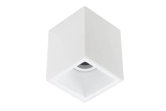 Plafon Sobrepor Recuado Direcionável Square Out 1xMR16 GU10 Alumínio Cor Branco Stella STH20915BR