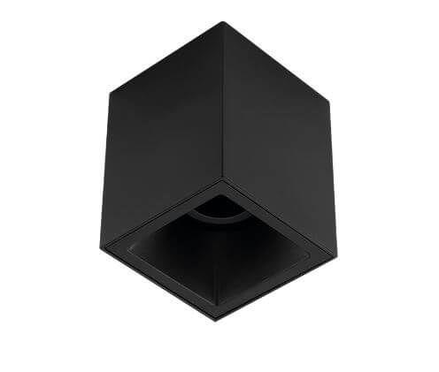 Plafon Sobrepor Recuado Direcionável Square Out 1xMR16 GU10 Alumínio Cor Preto Stella STH20915PTO