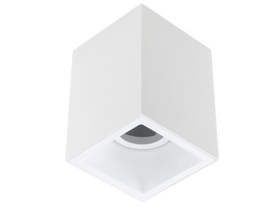 Plafon Sobrepor Recuado Direcionável Square Out 1xPAR20 Alumínio Cor Branco Stella STH20920BR