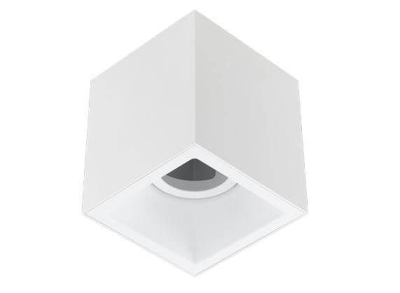 Plafon Sobrepor Recuado Direcionável Square Out 1xAR70 GU10 Alumínio Cor Branco Stella STH20930BR