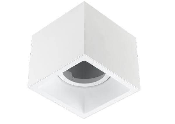 Plafon Sobrepor Recuado Direcionável Square Out 1xAR111GU10 Alumínio Cor Branco Stella STH20935BR