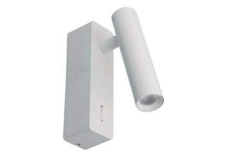 Arandela Pipe Estrutura em Alumínio 13x3,7x9,5cm Led 3W 3000K 127V/220V Cor Branca Casual Light AR1447BR