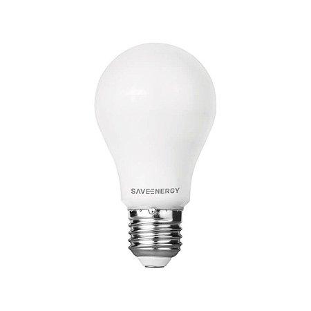Lâmpada Bulbo A60 E27 8W | 60W 3000K 250º Bivolt 810lm Saveenergy SE-215.1517