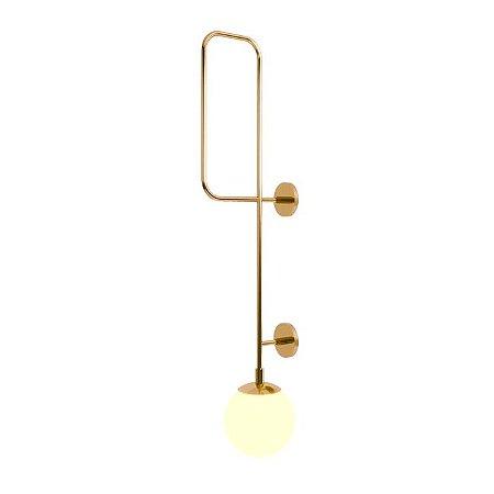 Arandela Ball Up Wall 2 Aço Inox 1xE27  127v/220V 22x120cm  Acabamento Latonado/Dourado  Klaxon  03200008DOU