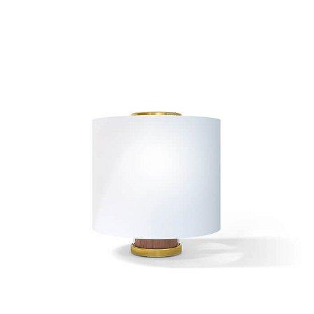 Luminária de Mesa One Aço Inox 1xE27 127v/220V 12x32cm Acabamento Latonado/Dourado Klaxon 03220005DOU