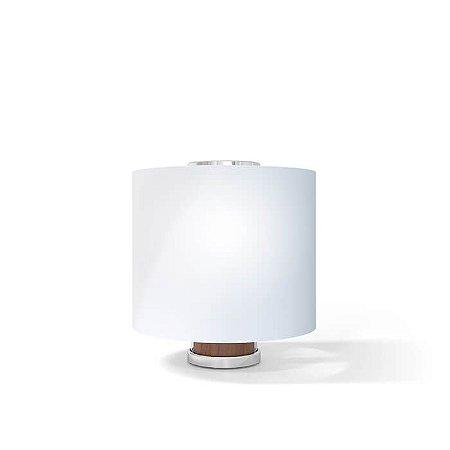 Luminária de Mesa One Aço Inox 1xE27 127v/220V 12x32cm Acabamento Cromado 03220005CRO