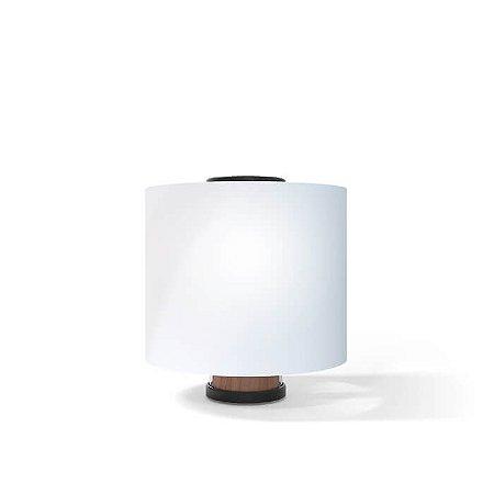 Luminária de Mesa One Aço Inox 1xE27 127v/220V 12x32cm Acabamento Preto 03220005PT