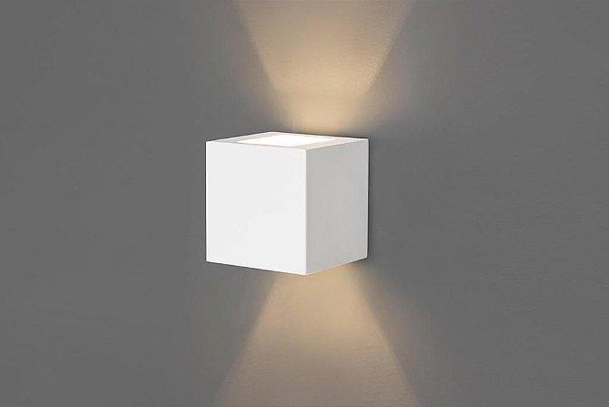 Arandela AR Vigo Externo Quadrado Halopin 25W  3W Led 110x110x51mm Cor Branco Microtexturizado Acend 00709