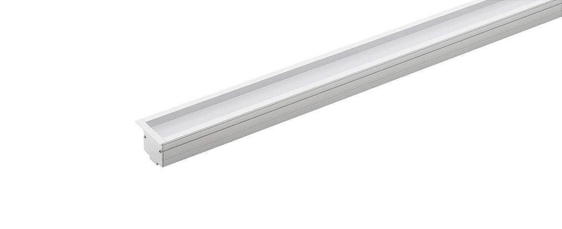 Perfil Embutir Recuado Archi  24Vcc 1MT 23W 1000lm 2700K Alumínio 100° Branco Stella STH20991BR/27