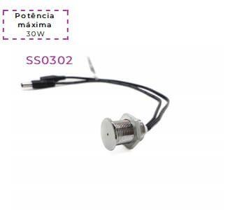 Interruptor Touch com Dimmer Embutido Metálico 12V-24V 30W Revoled SS0302