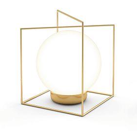 Abajur Campânula 2 Alumínio Globo de Vidro 1xG9 127v/220v 18x13x14cm  Acabamento Dourado/Latonado Klaxon  12010352DOU