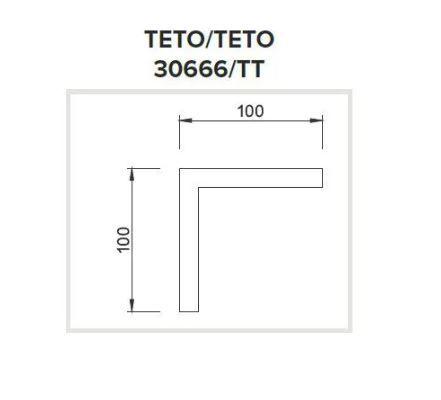 Junção Teto/Teto Sistema de Sobrepor Linear Linha Route 100x100mm Usina 30666/TT