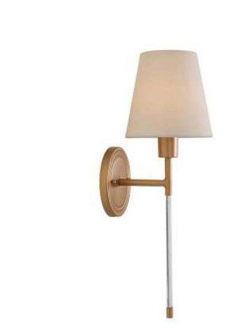 Arandela Volterra Metal 16x18x52cm 1xE27 LED Cor Gold Foco Metallo AR 130